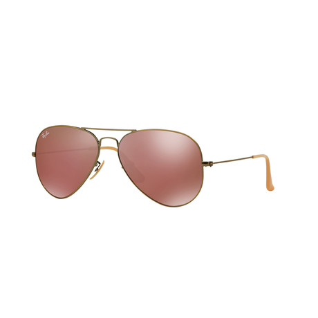 Large Aviator // Gold + Red Mirror
