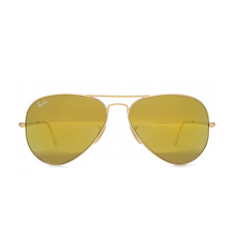 Aviator // Matte Gold + Gold Mirror