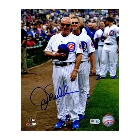 Joe Maddon // Signed Chicago Cubs Wrigley Field National Anthem // 8x10 Photo