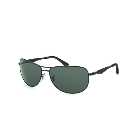 RB3519 // Black + Crystal Green // Polarized