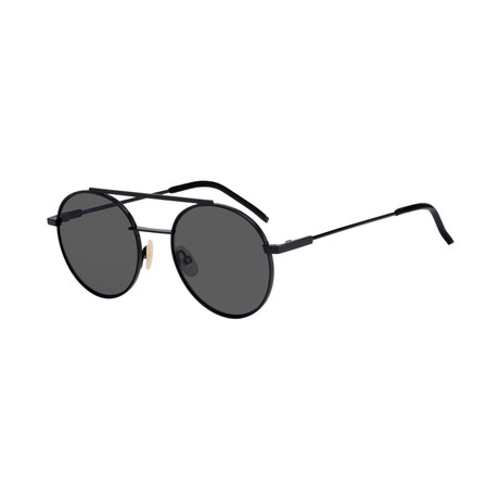 FF-221 Sunglasses // Black Frame + Gray Blue Lenses