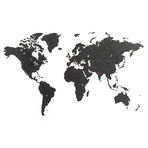 "Homizmo Luxury Wooden World Map True Puzzle Black (39.4""W x 23.6""H)"