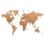"Homizmo Luxury Wooden World Map True Puzzle Brown (39.4""W x 23.6""H)"