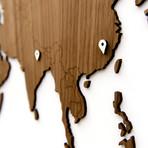 "Homizmo Luxury Wooden Wall Map Decoration Exclusive Walnut (51.2""L x 30.8""W)"