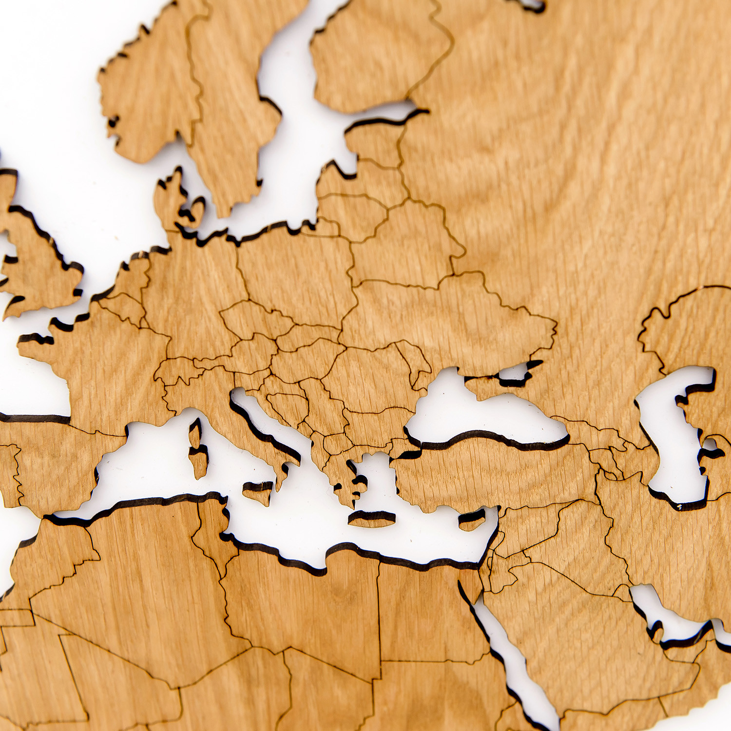 Luxury Wooden Wall Map Decoration Exclusive Oak // 1802-02 - MiMi ...