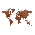 """Homizmo Luxury Wooden Wall Map Decoration Exclusive Sapele (51.2""""L x 30.8""""W)"""