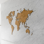 """Homizmo Luxury Wooden Wall Map Decoration Exclusive Oak (51.2""""L x 30.8""""W)"""