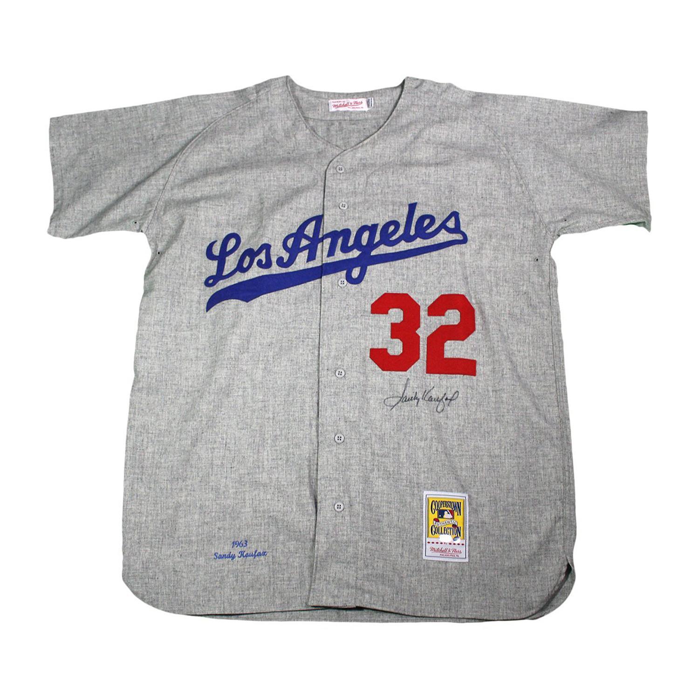 buy popular e0c8a 79578 Sandy Koufax Signed Mitchell + Ness Brooklyn Dodgers Jersey ...