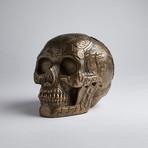 Bronze Aztec Skull
