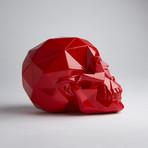 Red Polygon Skull