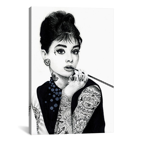"Audrey Hepburn (12""W x 18""H x 0.75""D)"