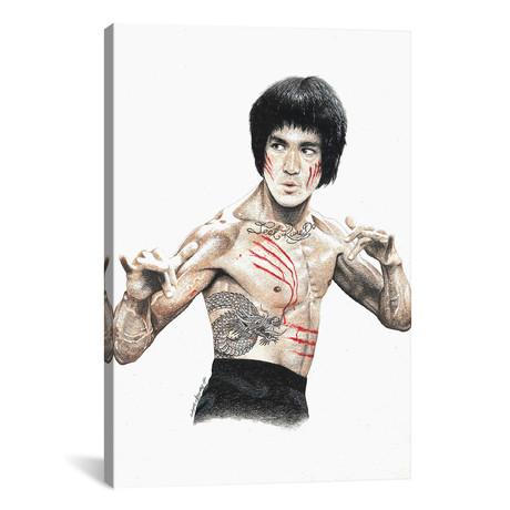 "Bruce Lee // Inked Ikons (12""W x 18""H x 0.75""D)"