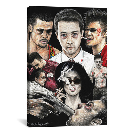 "Fight Club IV (18""W x 26""H x 0.75""D)"