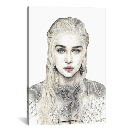 "Mother Of Dragons (12""W x 18""H x 0.75""D)"