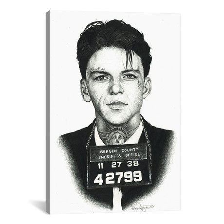 "Mugshot Sinatra (12""W x 18""H x 0.75""D)"