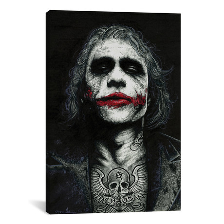 "The Joker // Inked Ikons (12""W x 18""H x 0.75""D)"