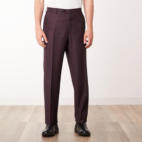 Classic Slim Fit Trouser // Aubergine (Euro: 46)