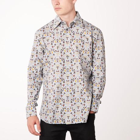 Tomas Long-Sleeve Regular Fit Shirt // Sky Blue + Mustard (XS)
