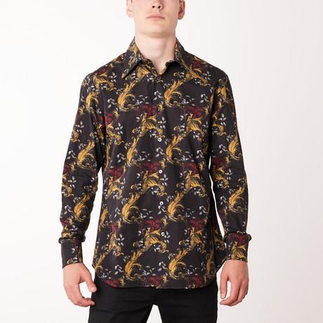 Willis Long-Sleeve Regular Fit Shirt // Black + Sun (XS)