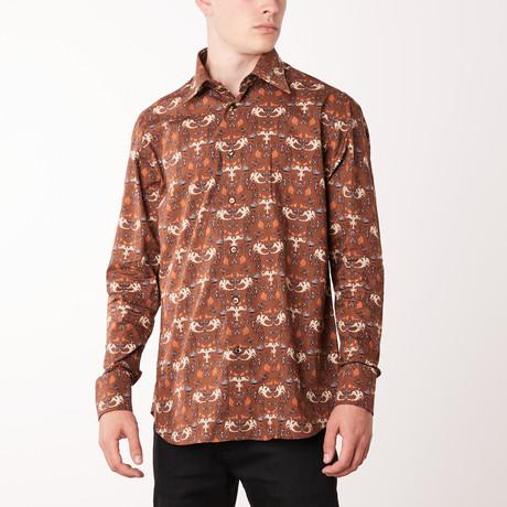Juan Long-Sleeve Regular Fit Shirt // Mustard + Ivory (XS)