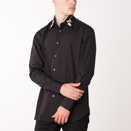 Von Long-Sleeve Fitted Shirt // Black (XS)