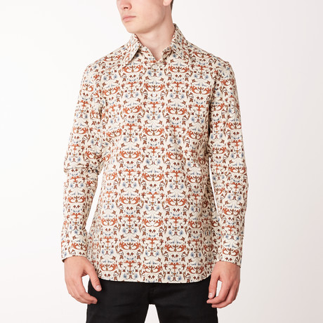 Guadalupe Long-Sleeve Regular Fit Shirt // White + Bluette (XS)