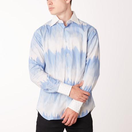 Len Long-Sleeve Regular Fit Shirt // Bluette + Skyblue (XS)