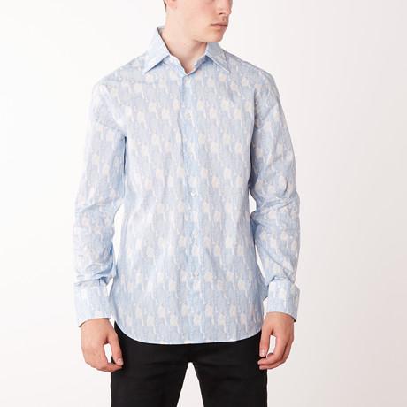 Percy Long-Sleeve Regular Fit Shirt // White + Bluette (XS)