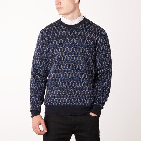 Knit Crewneck Sweater // Blue Ink