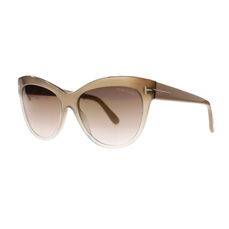Tom Ford // Women's Lily Sunglasses // Brown Fade + Brown Gradient