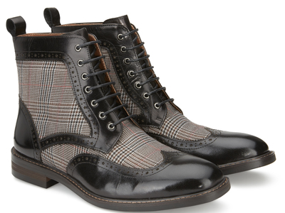 Photo of Vintage Foundry Versatile Leather Shoes Helidor Lace-Up Boot // Black (US: 7.5) by Touch Of Modern