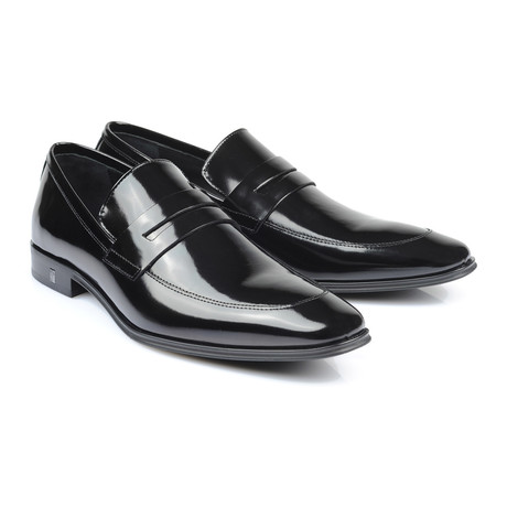 Patent Penny Loafer // Black (Euro: 39)