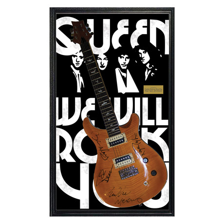 Framed Autographed Guitar // Queen