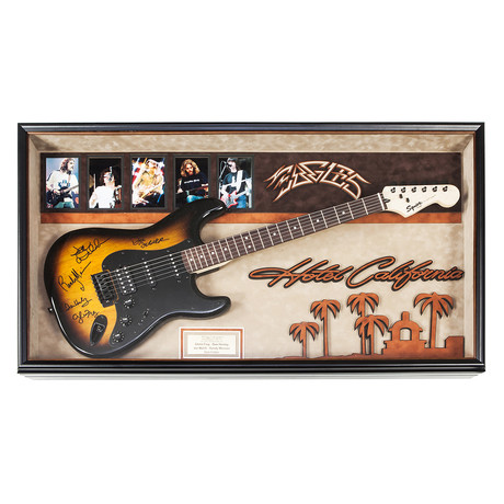 "Framed Autographed Guitar // Eagles ""Hotel California"""