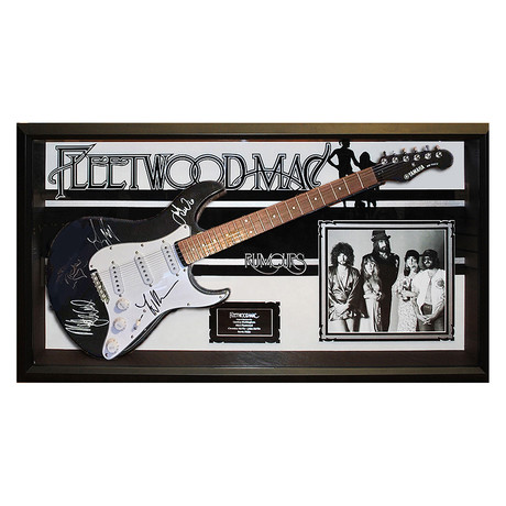 Framed Autographed Guitar // Fleetwood Mac