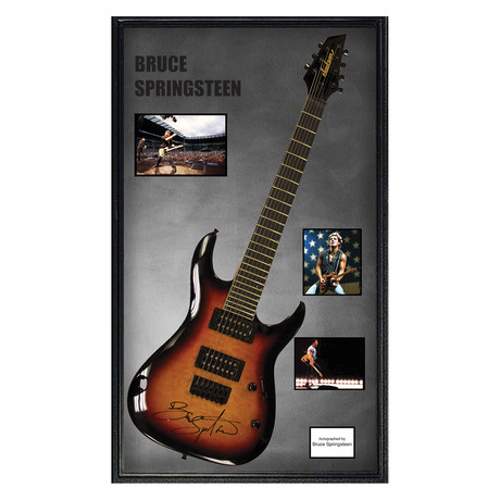 Framed Autographed Guitar // Bruce Springsteen