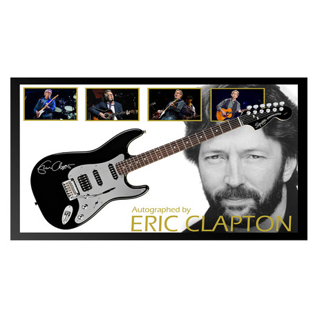 framed autographed guitar eric clapton signed framed music collectibles touch of modern. Black Bedroom Furniture Sets. Home Design Ideas