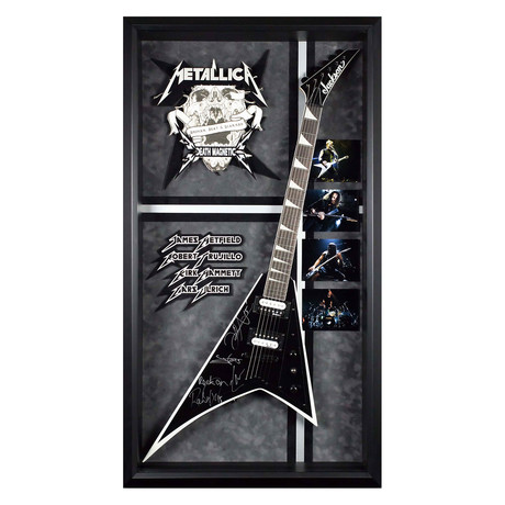 Framed Autographed Guitar // Metallica