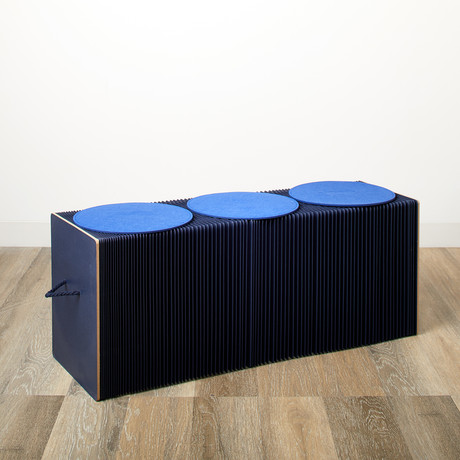 Accordion Bench // Blue