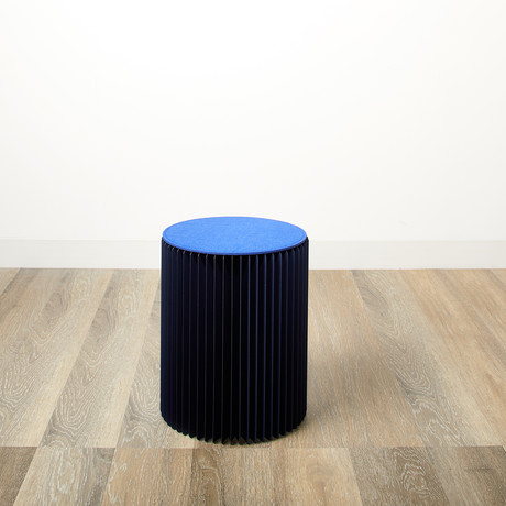 Accordion Stool // Blue