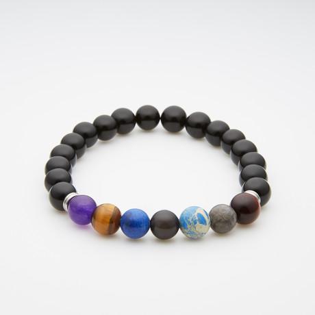 Black Onyx // 7 Multicolor Beads