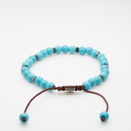 Jean Claude Jewelry // Turquoise Shamballa Bracelet // Aqua