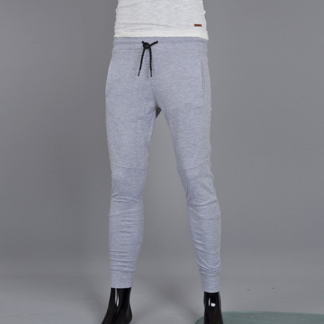 Patch Bottom Joggers // Gray