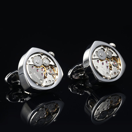 Bond Watch Cufflinks // Silver