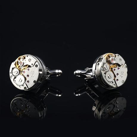 Quartz Watch Cufflinks // Bare Silvertoned