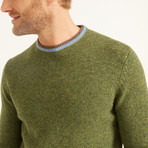 Wool Pullover Round Neck // Green (XS)