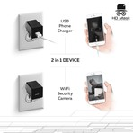 HD Mask // Dual USB Charger + Security Camera