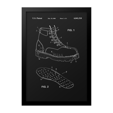 Climate Controlled Shoe Patent Print (Blue)