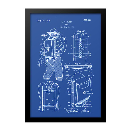Trapper Backpack Patent Print