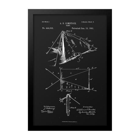Tent Patent Print (Blue)
